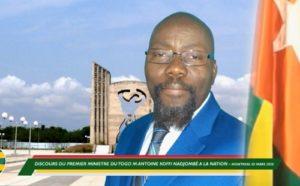 Antoine Koffi Nadjombé , Premier ministre du Togo